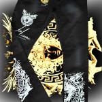 Black Medusa jeans Front-Back