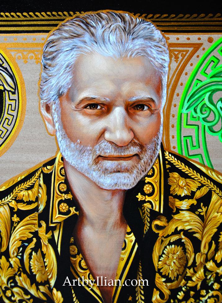 GIANNI VERSACE. Portrait by ILIAN RACHOV
