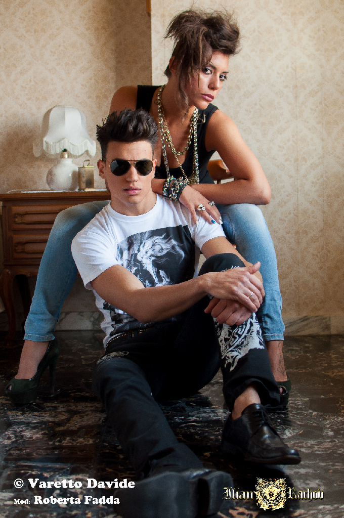 ICONS - Limited Edition Art Fashion Collection. Shooting by Fabio Torti and Davide Varetto. Models: Roberta Fadda and Cristian Audino. make up artist : Alessia Celly Celotto hair stylist : Marcello Frontera parrucchieri.