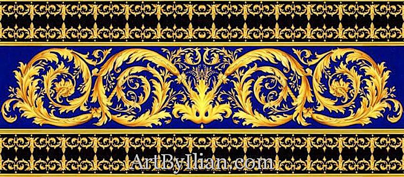 Versace Pattern Gold C...