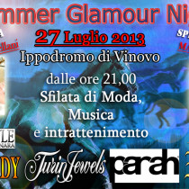 Summer Glamour Night. Ippodromo di Vinovo.With La Bella e La Voce Competition. Fashion show with ICONS t-shirt Collection.Bags and belts by Ivan Guerrera.