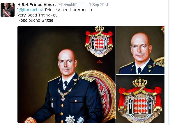 Prince Albert twitter