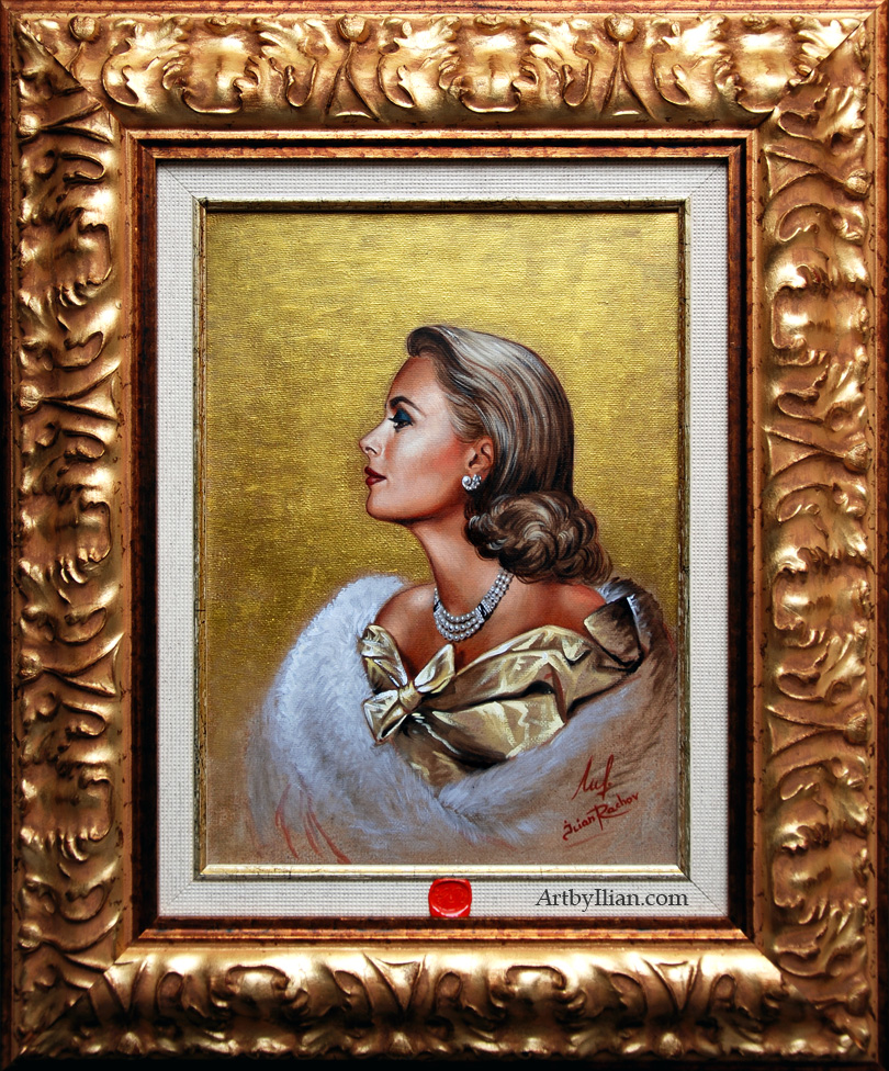 PRINCESS GRACE KELLY OF MONACO. Portrait by Ilian Rachov