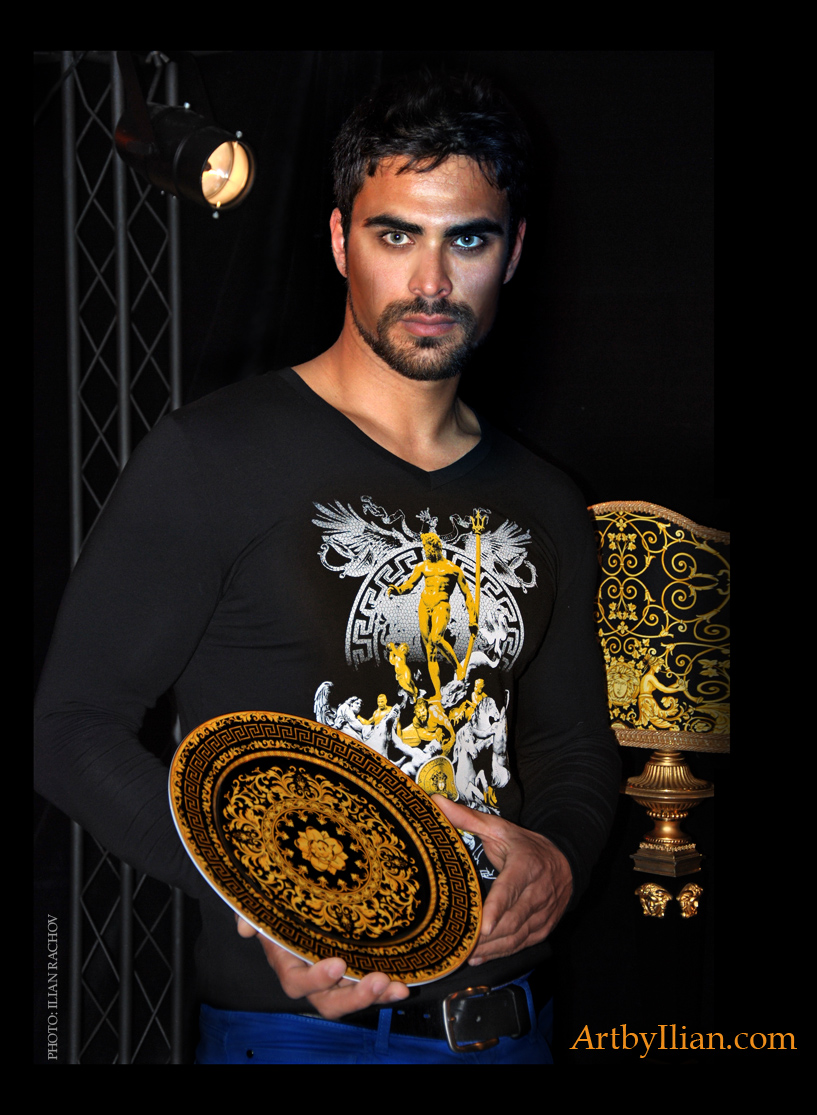 Photo Shooting PUMA Collection Art T-shirts in Palace Hotel Bari. Model: Mircea Moldovan  Location: Palace Hotel Bari  Accessories: Gianni Versace Private Collection of Mr. Antonio Caravano.  Post production: L VIProduction  Photo: Ilian Rachov