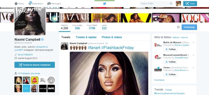 Naomi Campbell NaomiCampbell Twitter