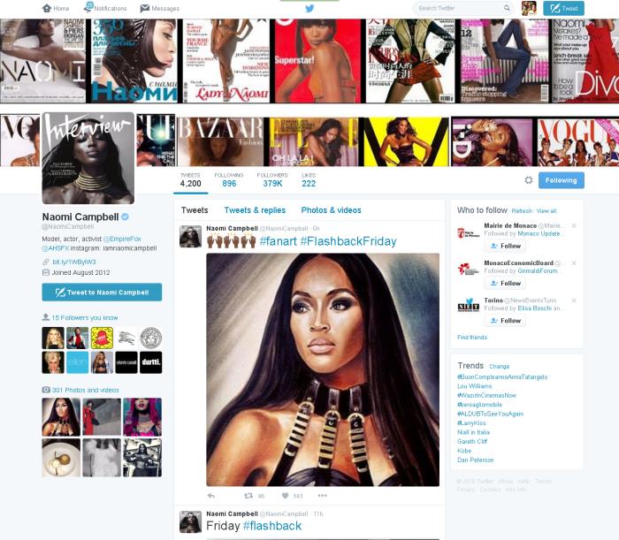Naomi Campbell2 NaomiCampbell Twitter
