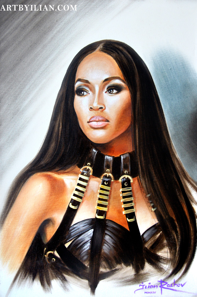 NAOMI CAMPBELL FACE VERSACE GIANNI BY ILIAN RACHOV
