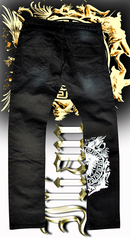 Black Medusa jeans Back