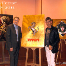 Exhibition during MISS FERRARI Competition in Turin.Italy