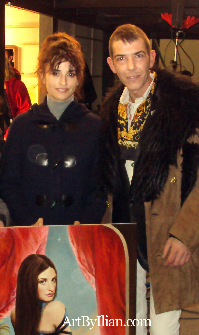 PENELOPE CRUZ and the artist ILIAN RACHOV