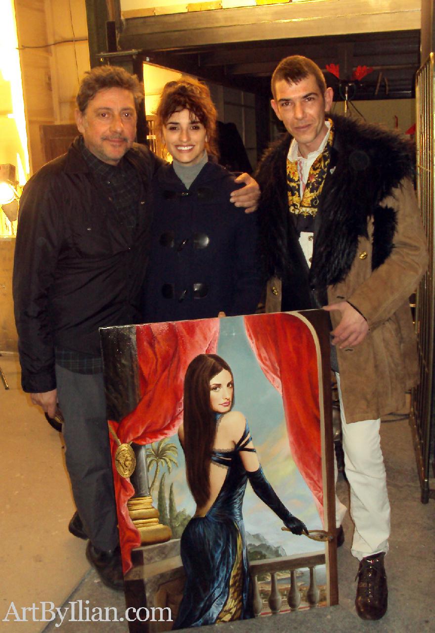 SERGIO CASTELLITTO, PENELOPE CRUZ and the artist ILIAN RACHOV